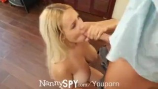 NannySpy Babysitter Kylie Page caught masturbating and fucks to save her jo