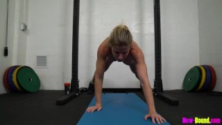 Muscle Milf Works Out Naked – Cory Chase