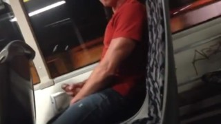 Dude Jerking On The Bus
