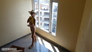 Walking naked around the hotel